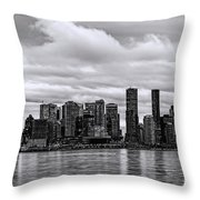Vancouver In Black And White. Throw Pillow