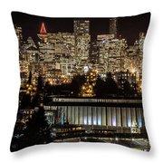 Vancouver Lights Throw Pillow