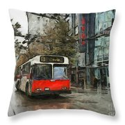 Vancouver Streets Throw Pillow