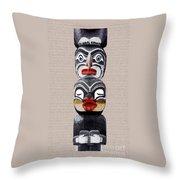 Vancouver Totem - 1 Throw Pillow