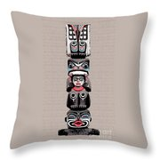 Vancouver Totem - 5 Throw Pillow by Linda  Parker