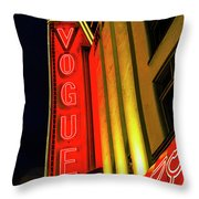 Vancouver Vogue Throw Pillow