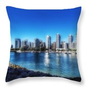Vancouver Water Throw Pillow