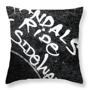 Vandals Ride Sideways Throw Pillow
