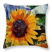 Vangogh Sunny Throw Pillow