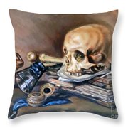 Vanitas After Pieter Claesz Throw Pillow