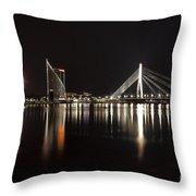 Vansu Bridge Riga Throw Pillow