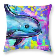 Vaquita Throw Pillow