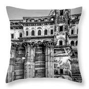 Varanasi Bw Throw Pillow