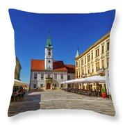 Varazdin Main Square, Croatia Throw Pillow