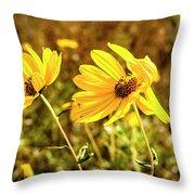 Variableleaf Sunflower Throw Pillow