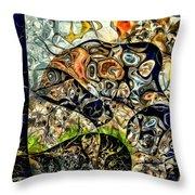 variation of Kardinsky Throw Pillow