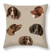 Variations Of A Spaniel Throw Pillow