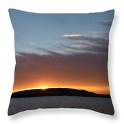 Variations Of Sunsets At Gulf Of Bothnia 1 Throw Pillow
