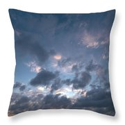 Variations Of Sunsets At Gulf Of Bothnia 5 Throw Pillow