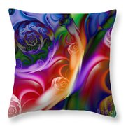 Varicolored Throw Pillow