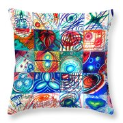 Variety Of Space Galaxies Stars Anomalies. Part 1 Throw Pillow