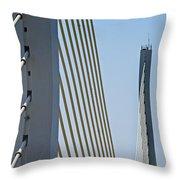 Varina Enon Bridge In Va Throw Pillow