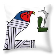 various demons of ancient Egypt Throw Pillow