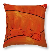 Various Orange Swirls Brown Accents Shiny 2 9132017  Throw Pillow