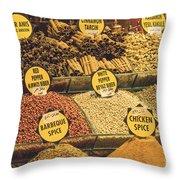 Various Spices Throw Pillow