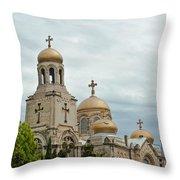 Varna Cathedral,bulgaria Throw Pillow
