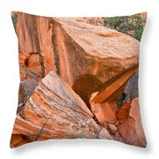 Varnished Boulders Throw Pillow