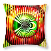 Vasarely Universe Throw Pillow