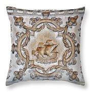 Vasco Da Gama Sarcophagus Lisbon Throw Pillow