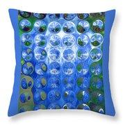 Vase Bubbles Throw Pillow