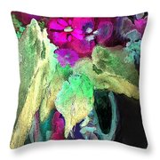 Vase Dancing In The Night Throw Pillow