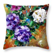 Vase Of Color Throw Pillow