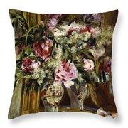 Vase Of Flowers, 1871  Throw Pillow