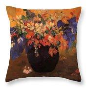 Vase Of Flowers 1896 Throw Pillow