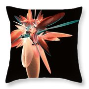Vase Of Flowers Abstract Throw Pillow