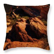 Vasquez Rocks And Stars Throw Pillow