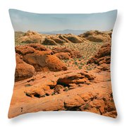 Vast Desert Valley Of Fire Throw Pillow