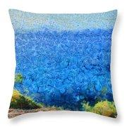 Vast Expanse Of The Ocean Throw Pillow