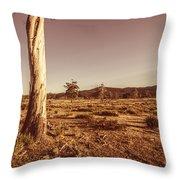 Vast Pastoral Australian Countryside  Throw Pillow