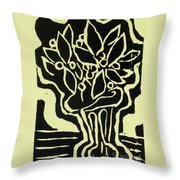 Vasum Yellow Throw Pillow