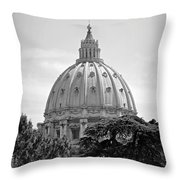 Vatican City Dome Throw Pillow