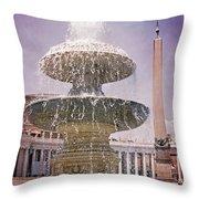 Vatican City Fountain Throw Pillow