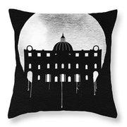 Vatican City Landmark Black Throw Pillow