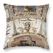 Vatican Museum Throw Pillow
