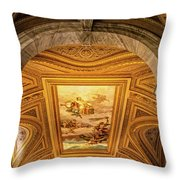 Vatican Museum Painted Ceiling Throw Pillow