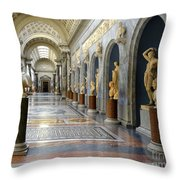 Vatican Museums Interiors Throw Pillow by Stefano Senise