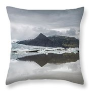 Vatnajokull Glacier Throw Pillow