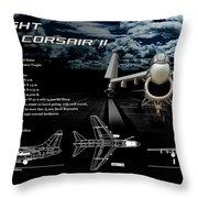 Vaught A-7a Corsair II Throw Pillow