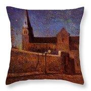 Vaugirard Church 1879 Throw Pillow