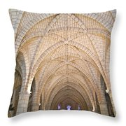 Vaulted Ceiling And Arches Throw Pillow